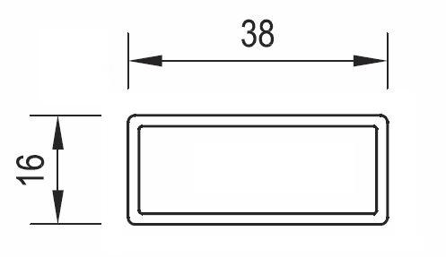 38mm x 16mm Slat Image